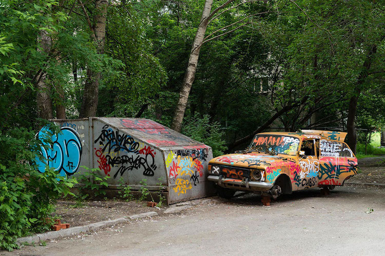 Anamorphic Street Art at the Stenograffia Festival