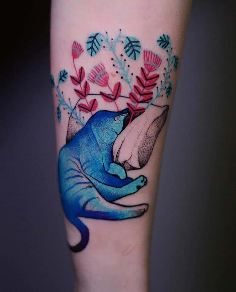 Colorful Animal Tattoos Watercolor Tattoos Illustrative Tattoos Joanna Swirska