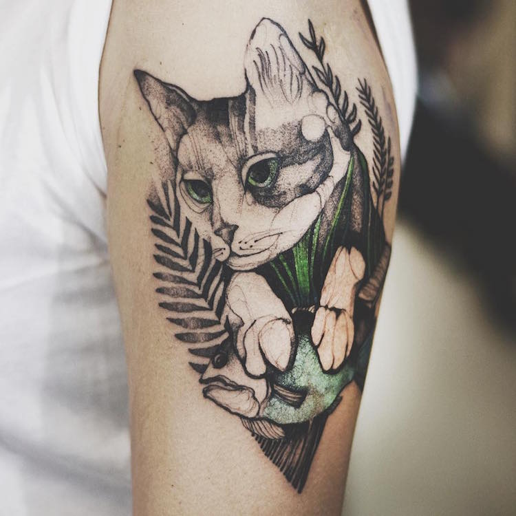 Colorful Tattoo Animal Tattoos Watercolor Tattoos Illustrative Tattoos Joanna Swirska