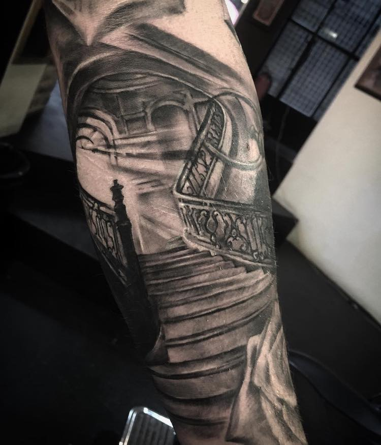 30 Architecture Tattoo Designs To Get You Inspired For