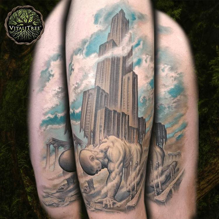 30 architecture tattoo designs to get you inspired for more ink. Black Bedroom Furniture Sets. Home Design Ideas