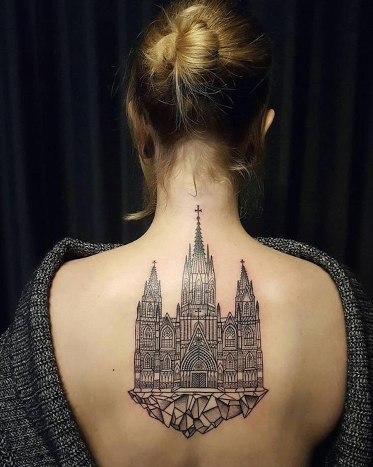 30 architecture tattoo designs to get you inspired for for Free tattoos nyc 2017