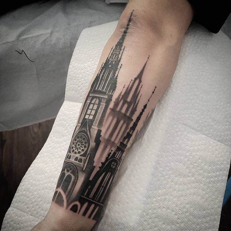 Tattoos Inspired by Architecture