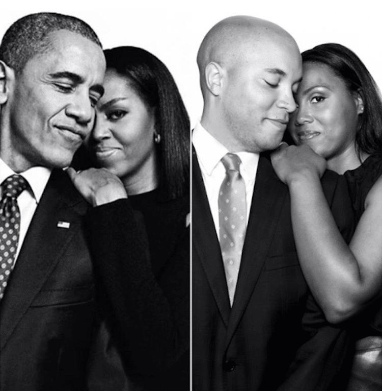 Barack and Michelle Obama Engagement Photos Obama Love Story Natasha Herbert