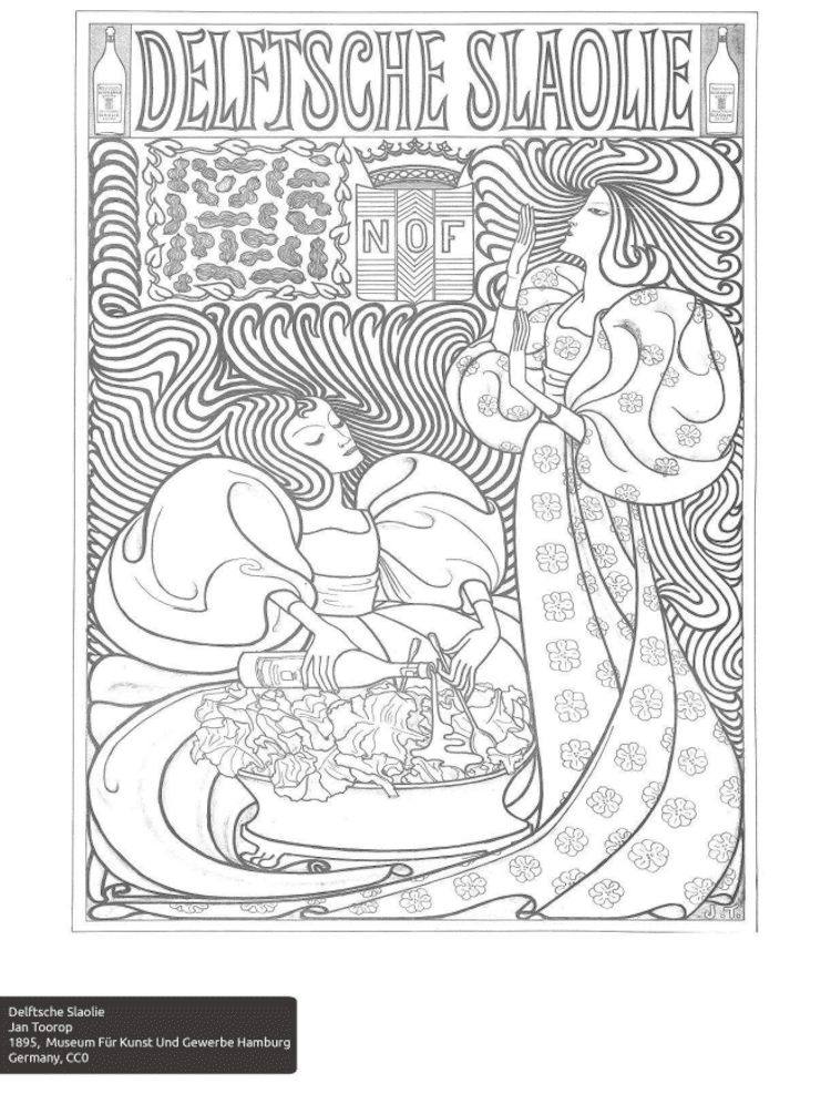 Free Coloring Pages From 100 Museums By Color Our Collections Free Coloring Book Pages