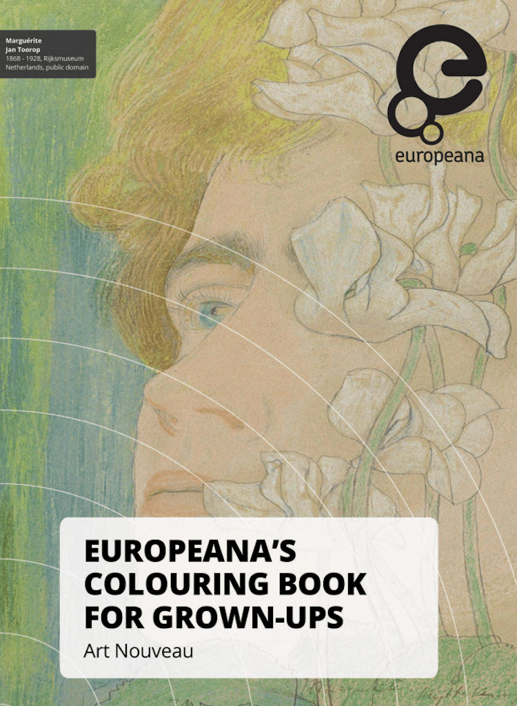 Artists Colouring Book Art Nouveau : Free coloring pages from 100 museums by color our collections
