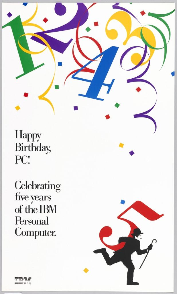 IBM poster Cooper Hewitt Museum Design Online Collection