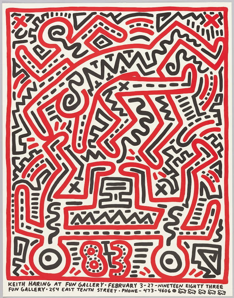 Cooper Hewitt Museum Design Online Collection keith haring poster