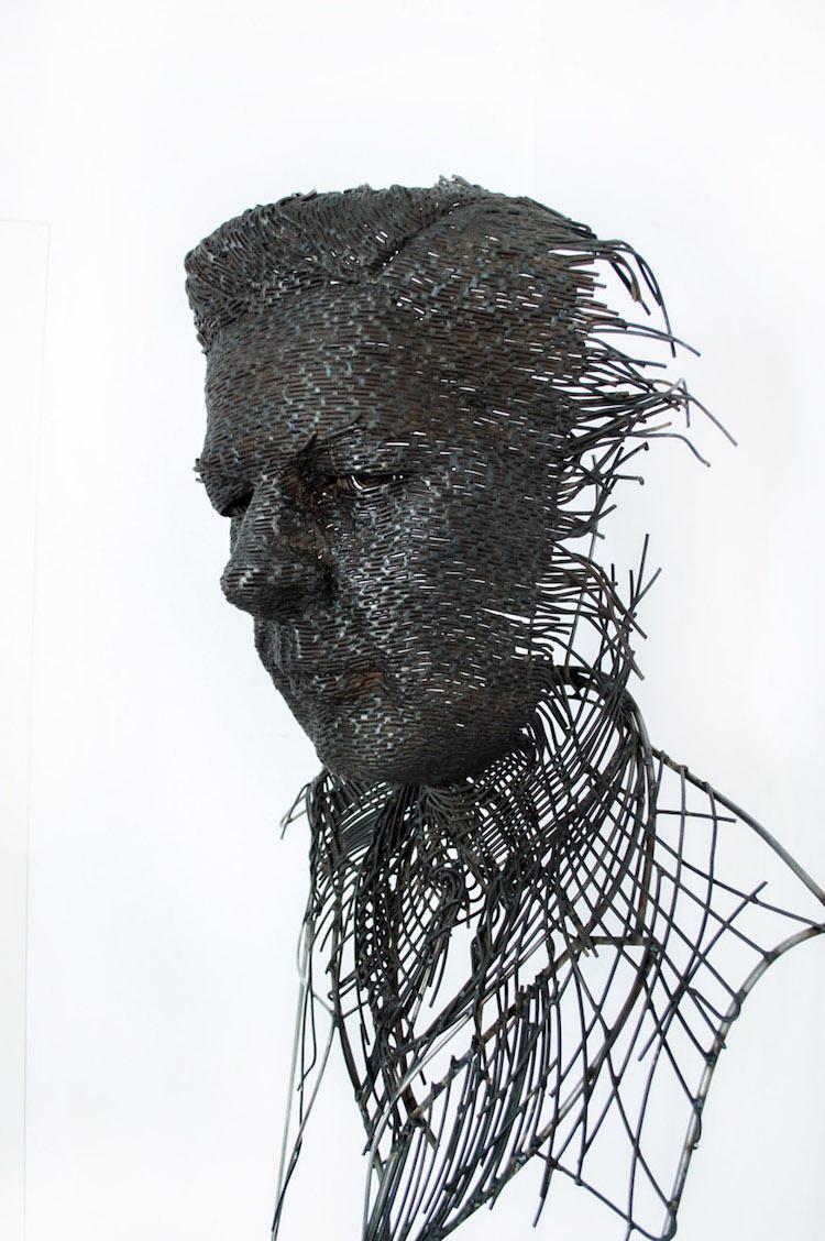 contemporary portrait bust darius hulea