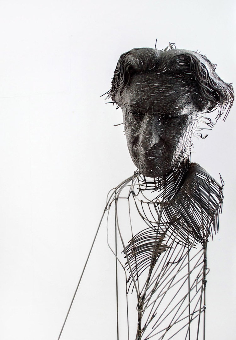 contemporary wire sculpture darius hulea