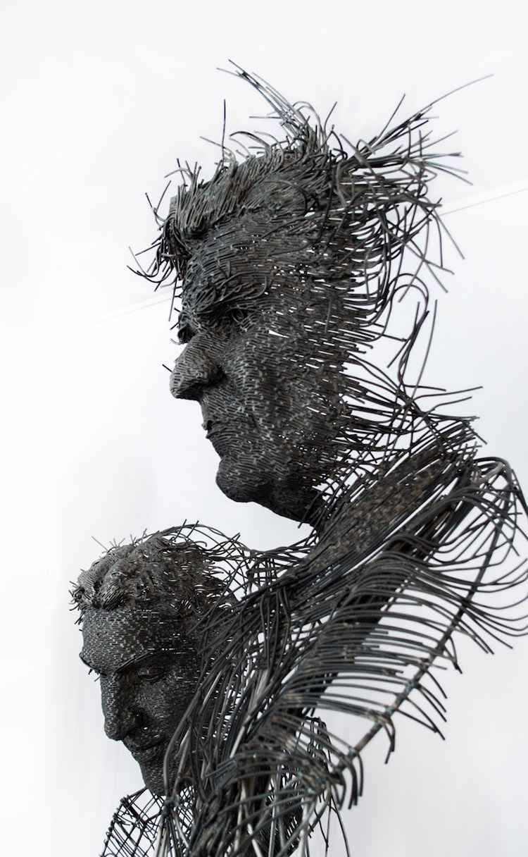 Wire Sculpture by Darius Hulea is a Modern Twist on the Portrait Bust