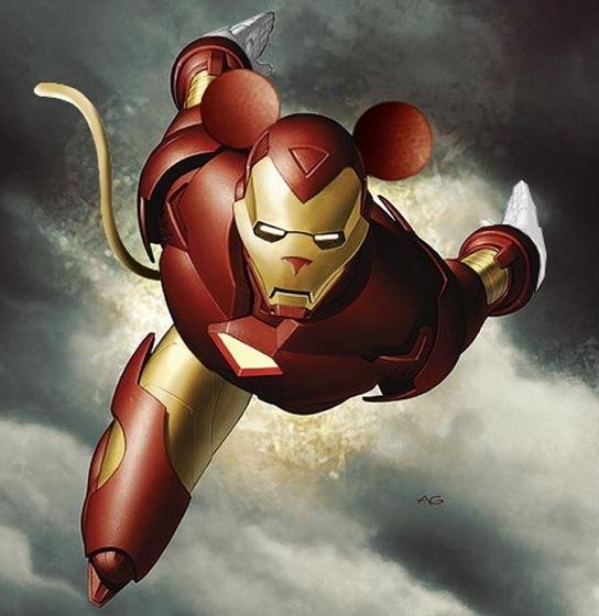 Disney Marvel Mashup art