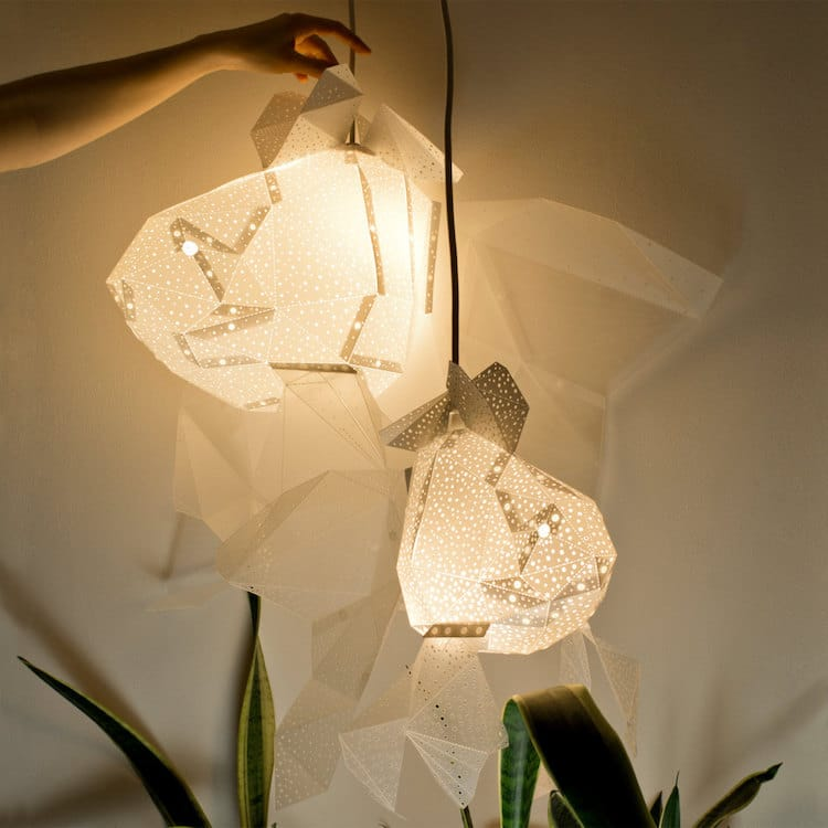 Diy Lamp Shapes Put An Underwater Spin On Paper Lamp Coverings