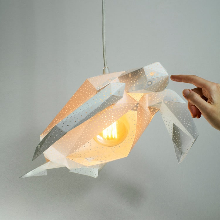 Diy lamp shapes put an underwater spin on paper lamp coverings diy lamp shades animal lamp paper lamp vasililights aloadofball Image collections