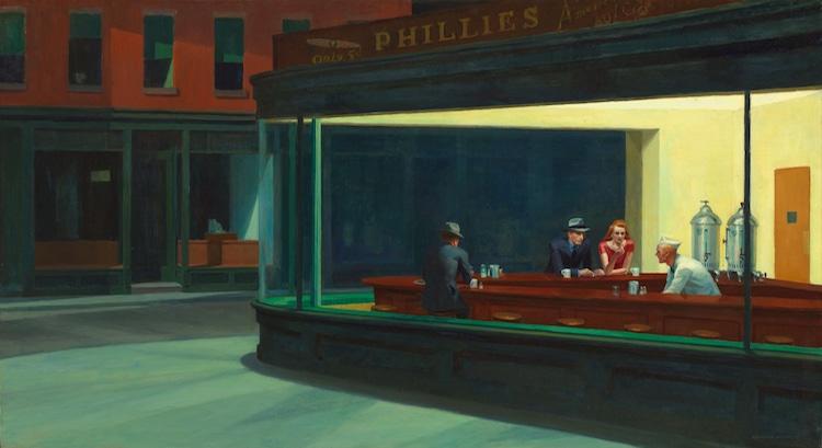 Edward Hopper Nighthawks painting