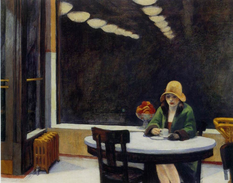 Edward Hopper Nighthawks pintura
