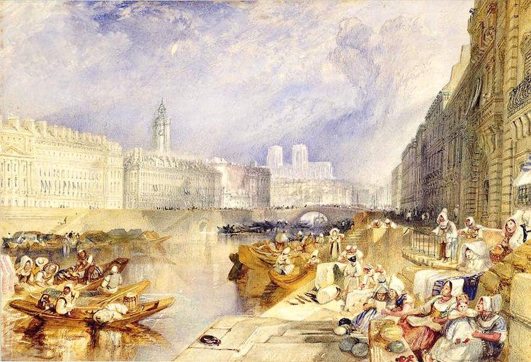 Watercolor Painting by J.M.W. Turner