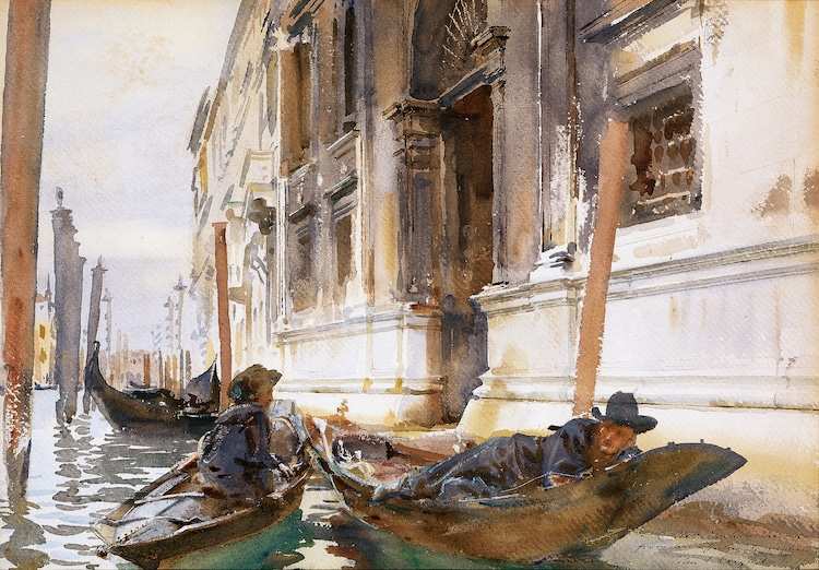 John Singer Sargent Watercolor Painting