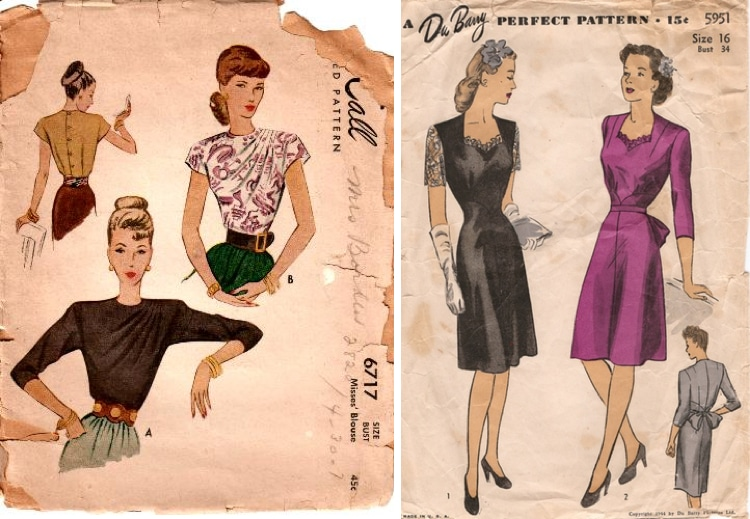 Selling vintage sewing patterns