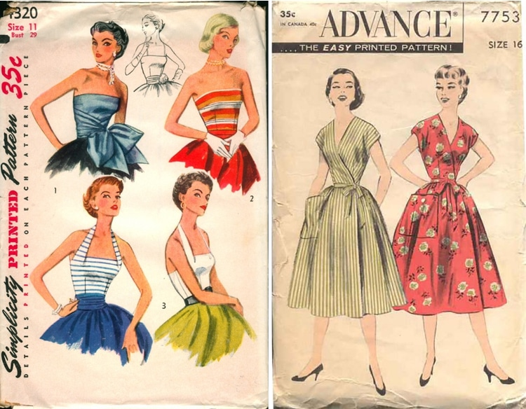 More Than 4040 Vintage Sewing Patterns On Vintage Patterns Wiki Magnificent Vintage Dress Patterns 1950s