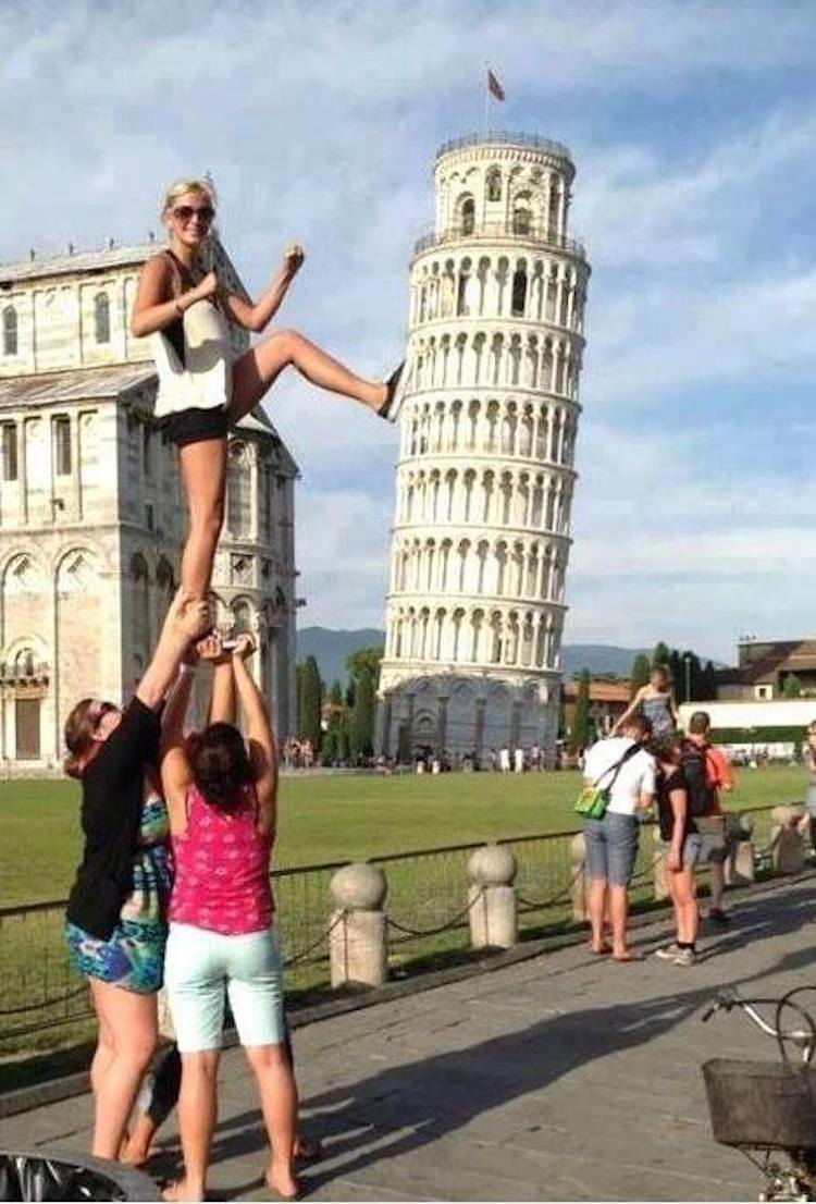 Creative Leaning Tower of Pisa Pictures