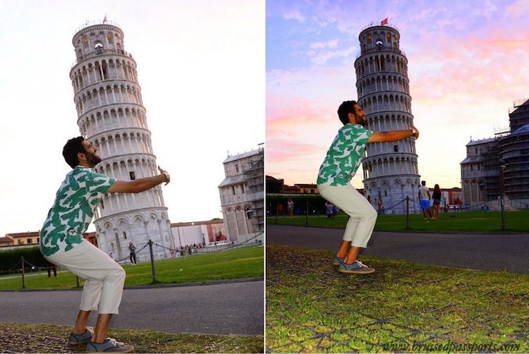 Leaning Tower of Pisa Tourist Pictures