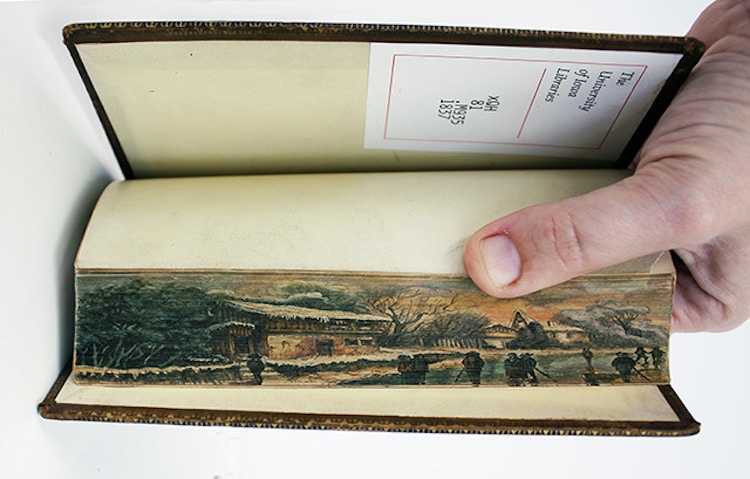 Hidden Fore-Edge Painting