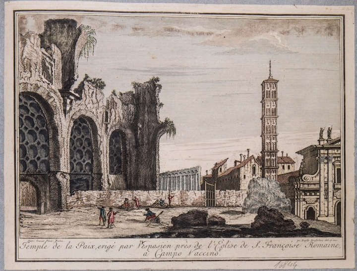 rodolfo lanciani print of ancient rome