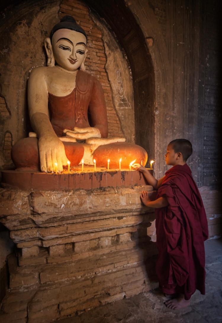 Young Monks Portrait Photo