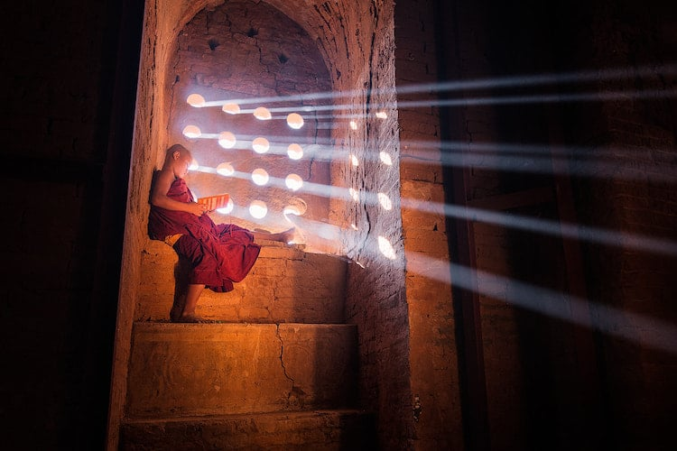 Young Monk Portrait Photography by Marcelo Castro