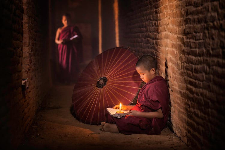 Young Monks Portrait Photo