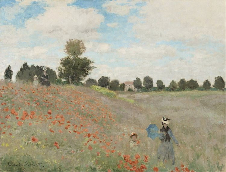 Monet Painting of Poppies