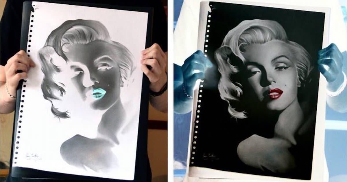 Negative Art Drawings