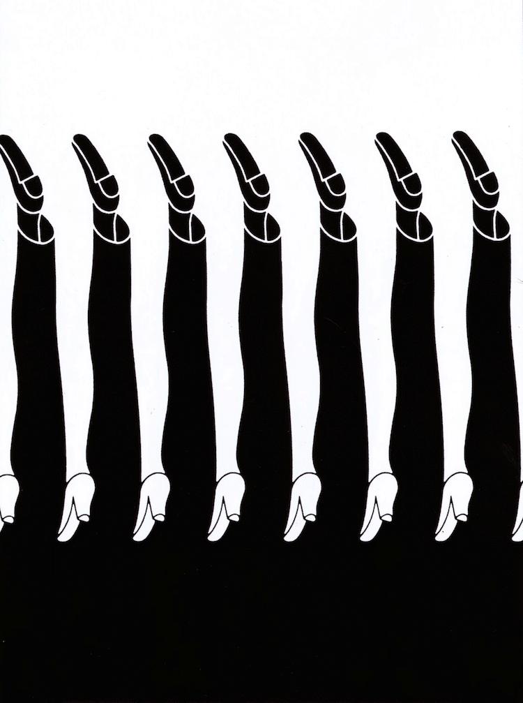 Negative Space Drawing by Shigeo Fukuda