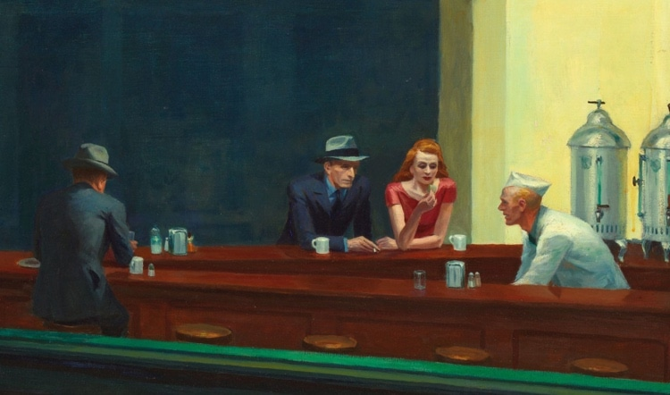 Detail of Edward Hopper's Nighthawks