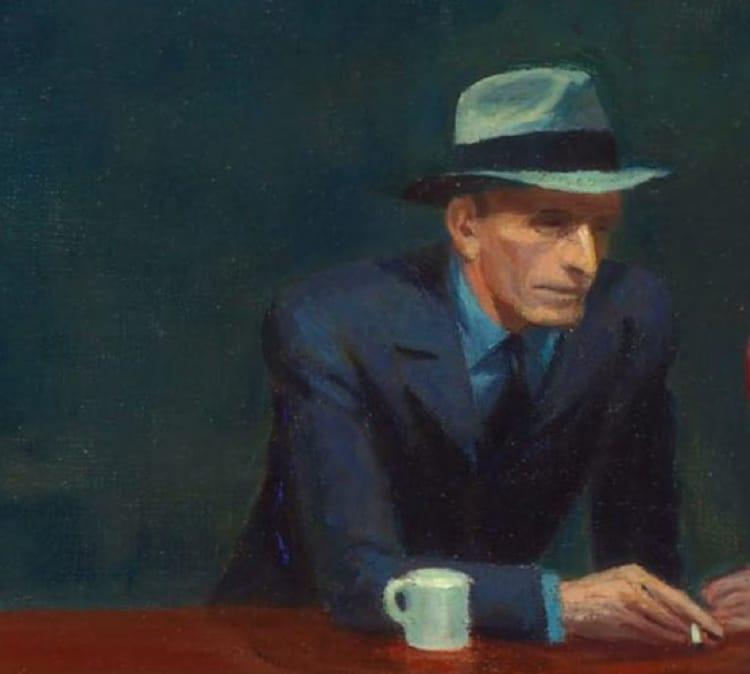 Detail of Edward Hopper's Nighthawks