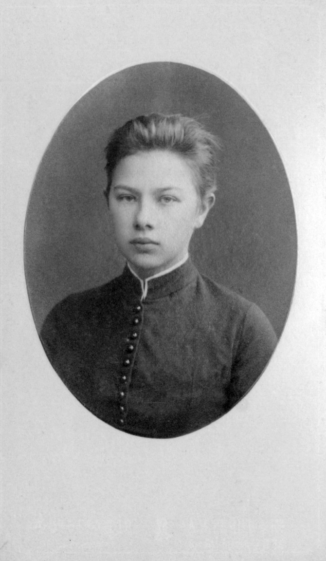 Nadezhda Krupskaya as a child