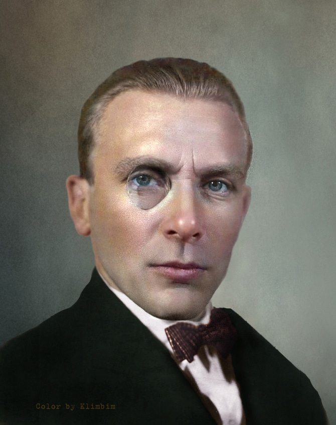 Mikhail Bulgakov colorized photo | Михаил Булгаков