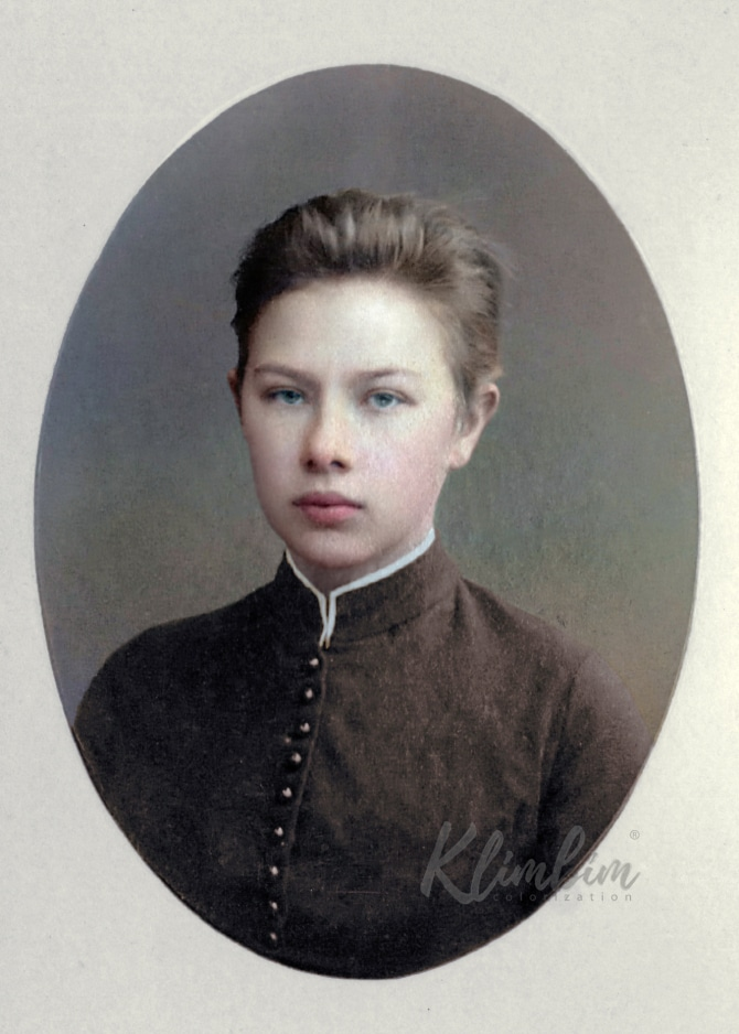 Nadezhda Krupskaya colorized photo