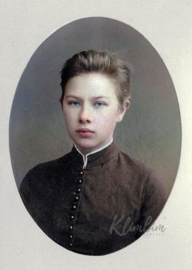 Nadezhda Krupskaya colorized photo