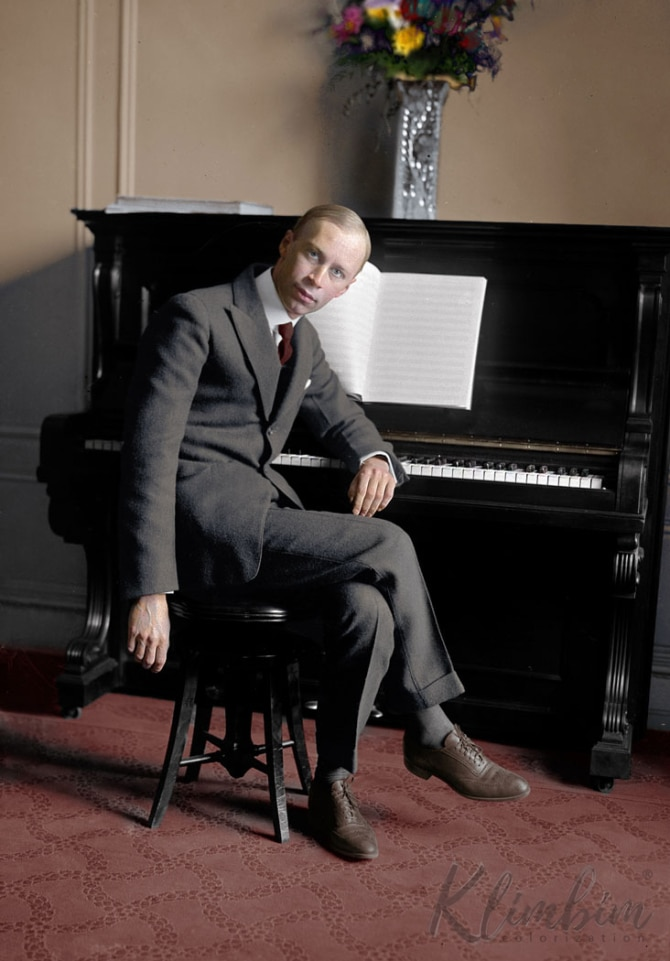 Sergei Prokofiev Olga Shirnina - Colorized Photos of Russian History