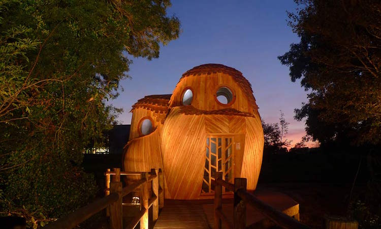 Owl Cabin Animal Architecture Rural France Zebra3