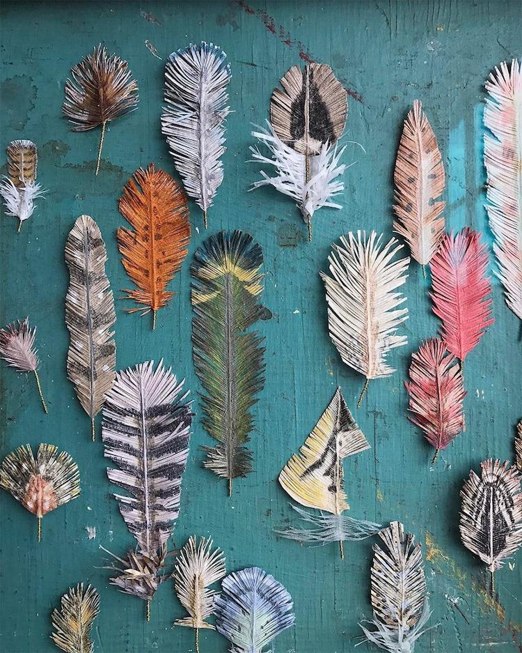 Nature Sculpture Paper Art Woodlucker Ann Wood