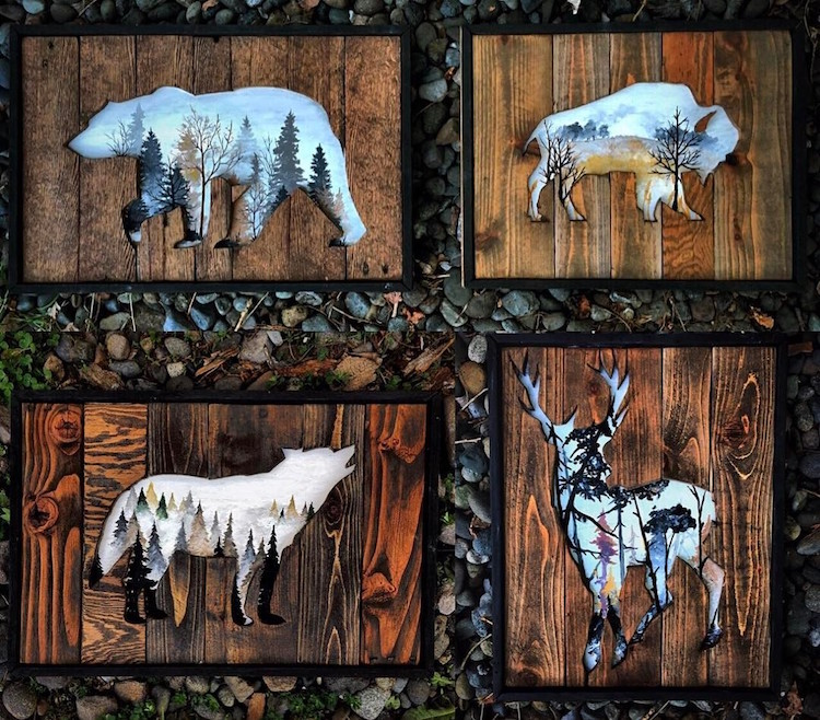 Reclaimed Wood Frames Reclaimed Wood Art Woodensense