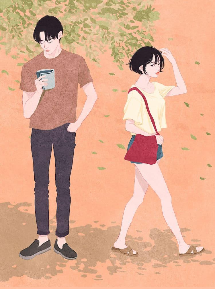 Zipcy Relationship Drawings Couple Illustration Love Art