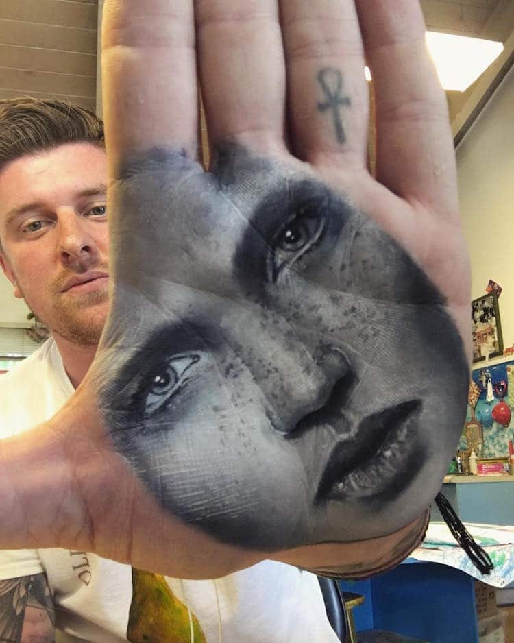 Hand Stamp Body Art Body Painting Russell Powell