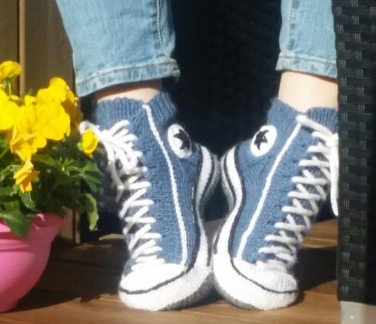 Knit Sneakers Pattern by by Rea Järvenpää