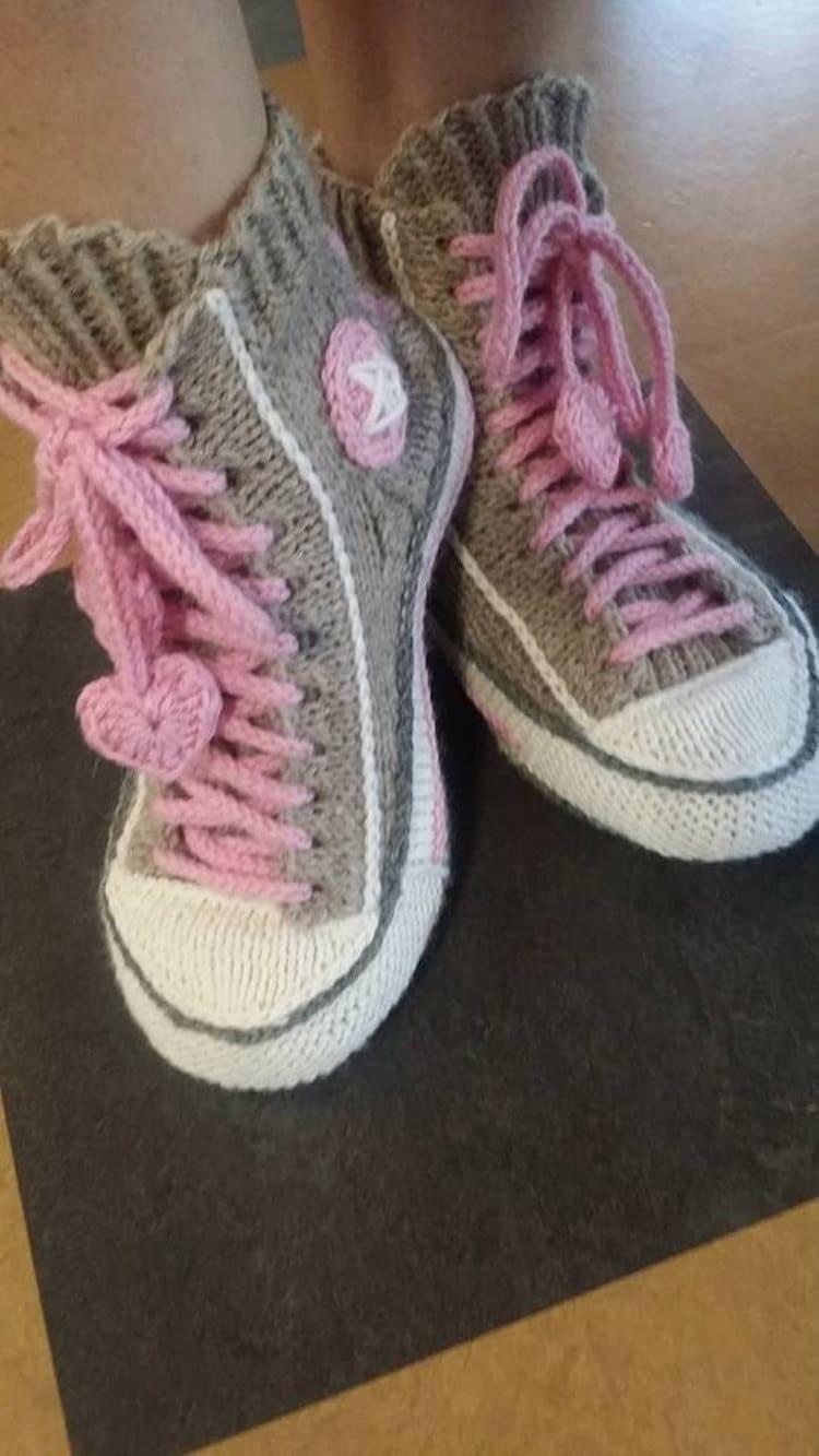 Knitted Sneakers Design by Rea Järvenpää