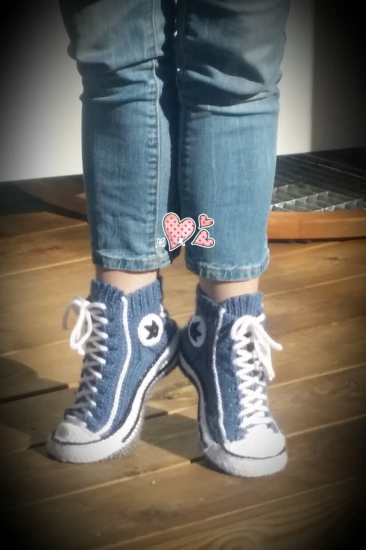 Converse Shoes into Cozy Slippers