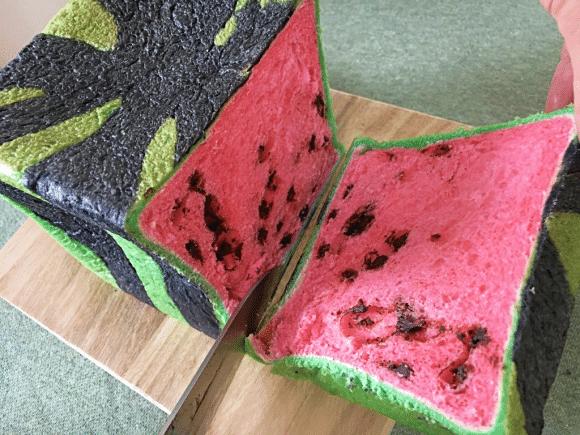 Square Watermelon Bread baking trends japan